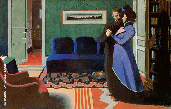 The Visit By Felix Vallotton