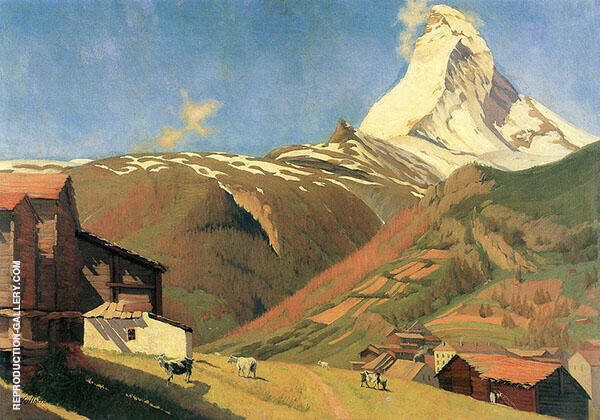 View of Zermatt By Felix Vallotton