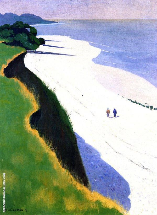 White Beach 1913 By Felix Vallotton