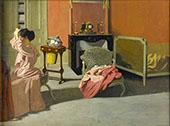 Woman Combing her Hair By Felix Vallotton