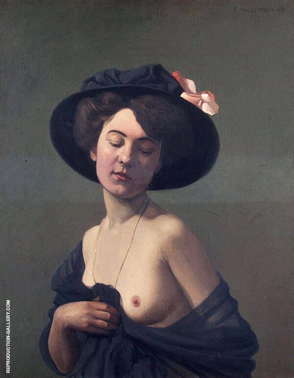 Woman in a Black Hat By Felix Vallotton