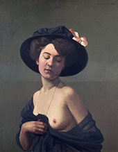 Woman in a Black Hat By Felix Vallotton