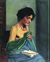 Woman Reading By Felix Vallotton