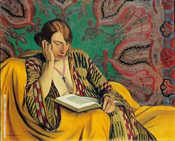 Woman Reading 1922 By Felix Vallotton