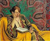 Woman Reading 1922 By Felix Vallotton