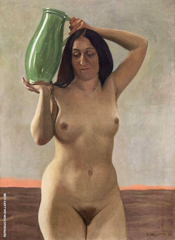 Woman with Jug By Felix Vallotton