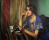 Woman with Powder By Felix Vallotton