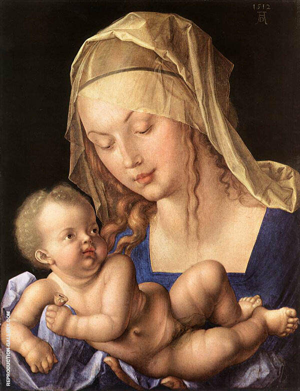Madonna of The Pear 1512 By Albrecht Durer