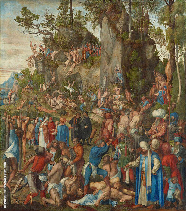 Martyrdom of The Then Thousand 1508 By Albrecht Durer