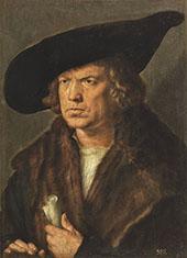 Portrait of Beardless of Man with Cap By Albrecht Durer