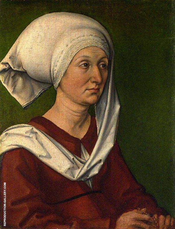 Portrait of Barbara Durer By Albrecht Durer