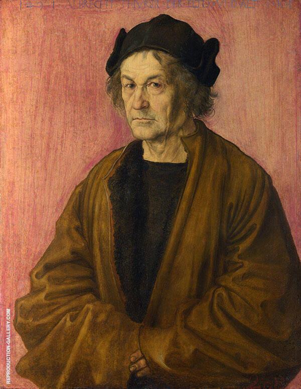 Portrait of Durer's Father By Albrecht Durer