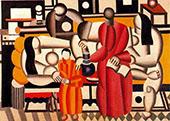 Women in an Interior By Fernand Leger