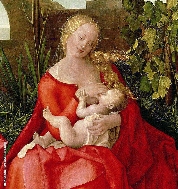 Virgin and Child Madonna with The Iris 1508 By Albrecht Durer
