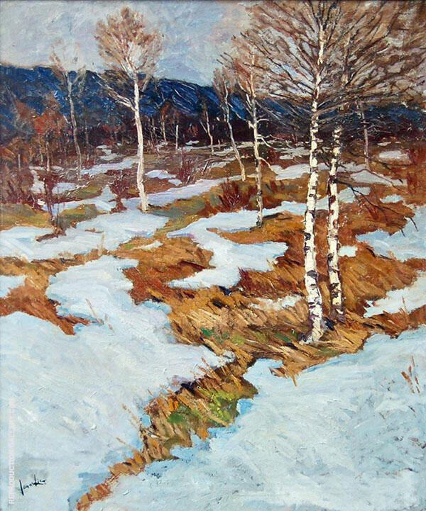 Snow Scene Landscape By Jonas Lie