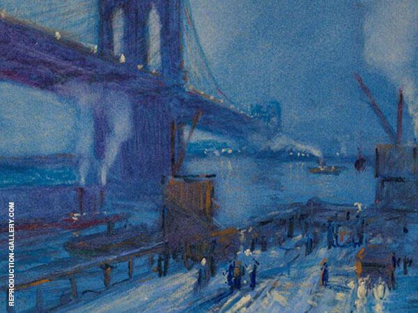 View of Brooklyn Bridge By Jonas Lie