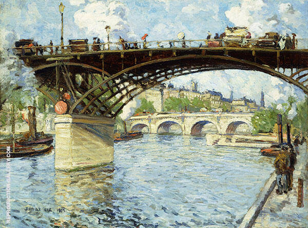 View of The Seine 1909 By Jonas Lie