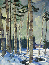 Winter Birches By Jonas Lie