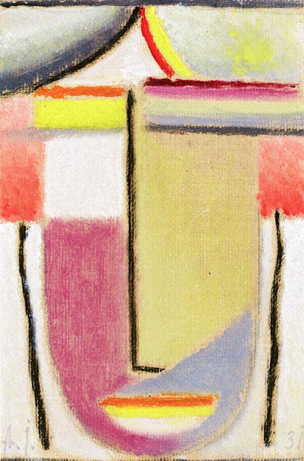 Abstract Head 11 By Alexej von Jawlensky