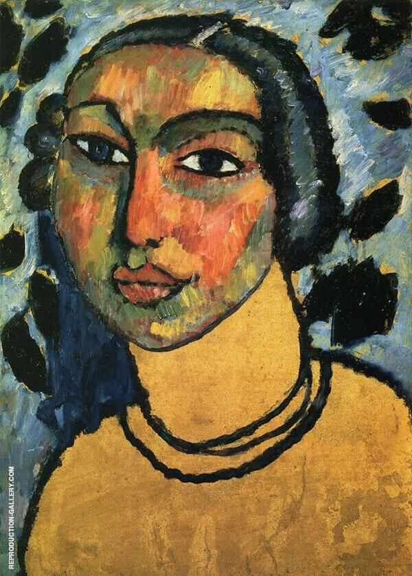 A Jewish Maiden By Alexej von Jawlensky