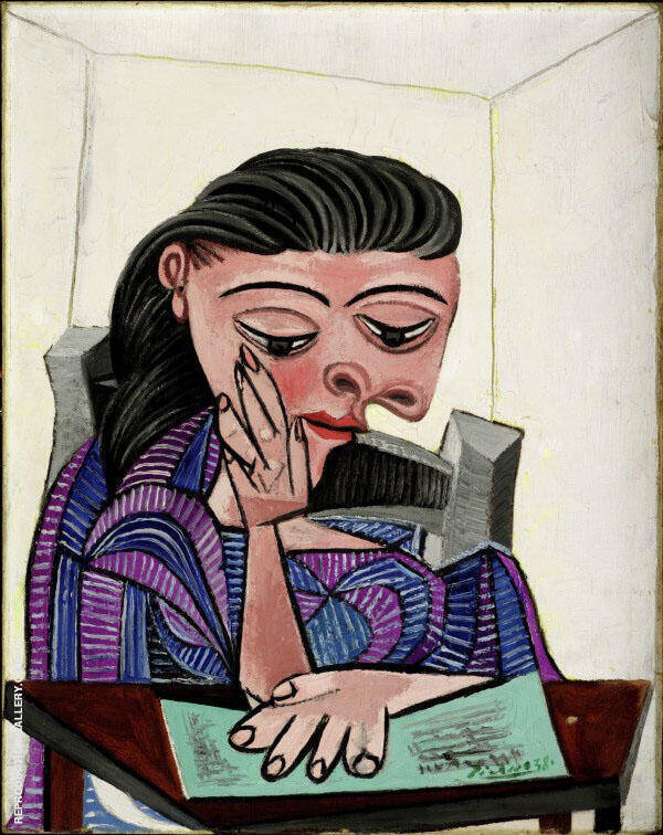 Girl Reading 1938 Painting By Pablo Picasso - Reproduction Gallery