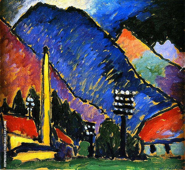 Factory in The Mountains By Alexej von Jawlensky