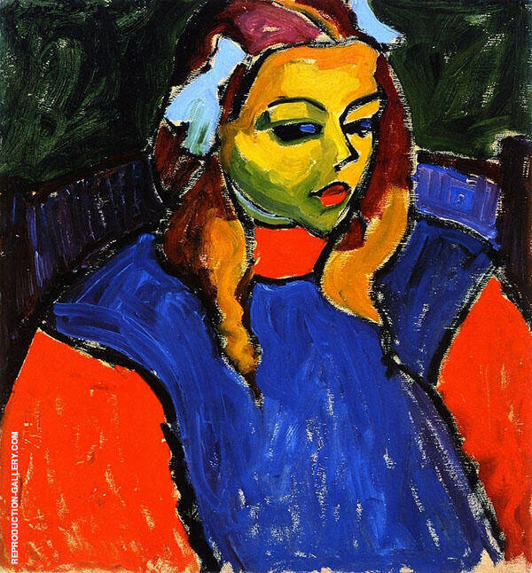 Girl with Green Face By Alexej von Jawlensky