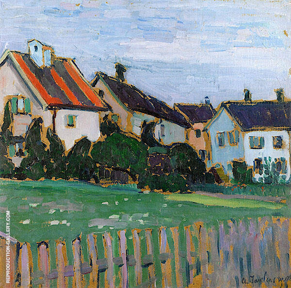 Houses with Front Gardens By Alexej von Jawlensky