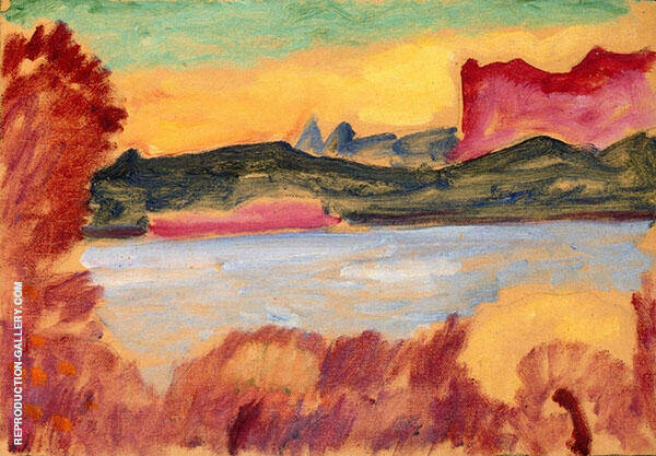 Lake Geneva Landscape By Alexej von Jawlensky