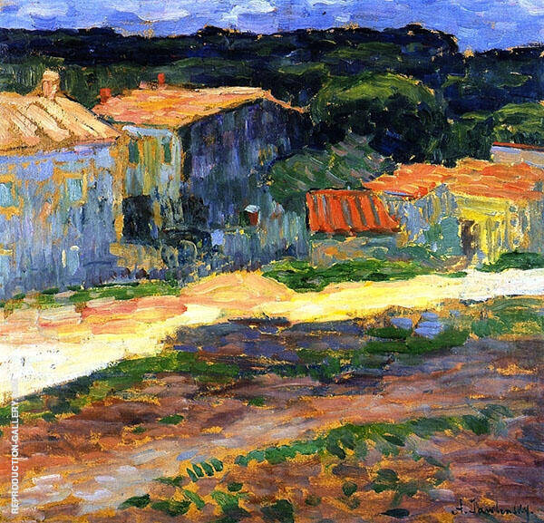 Landscape with Houses in Provence By Alexej von Jawlensky
