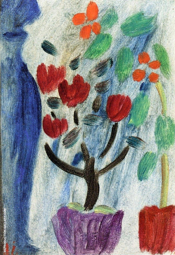 Large Still Life with Flowers By Alexej von Jawlensky