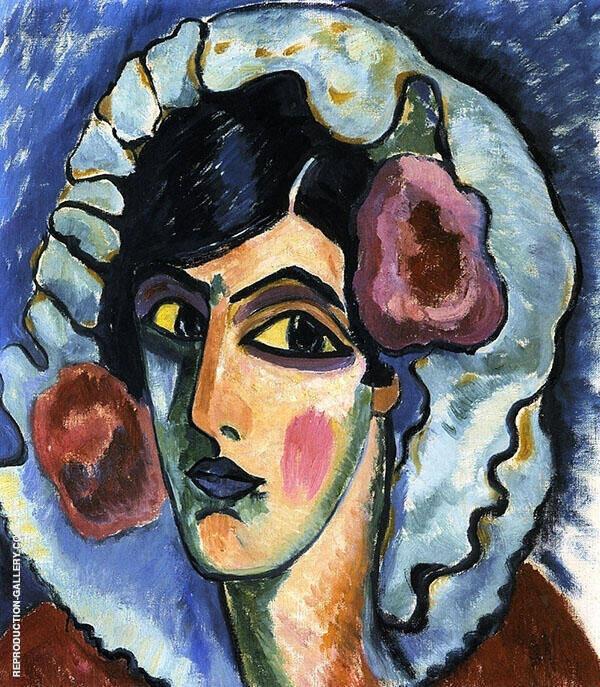 Manola Head of a Woman By Alexej von Jawlensky