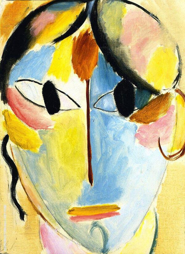 Mystical Head By Alexej von Jawlensky