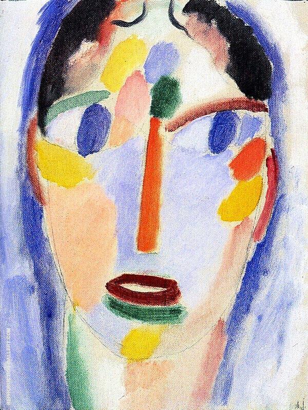 Mystical Head Head in Blue By Alexej von Jawlensky
