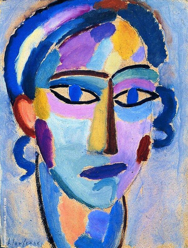 Mystical Head Opal By Alexej von Jawlensky
