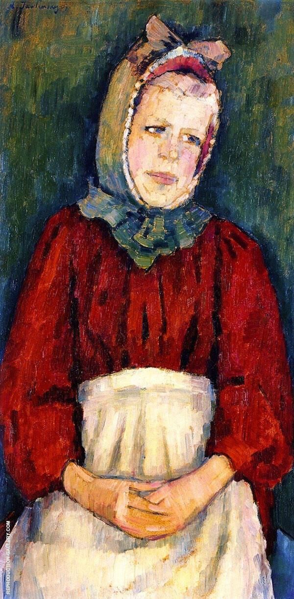 Peasant Girl in a Bonnet By Alexej von Jawlensky