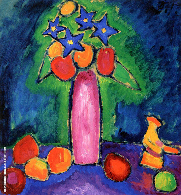 Still Life with Rooster Painting By Alexej von Jawlensky