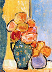 Still Life with Three Flower Vases By Alexej von Jawlensky