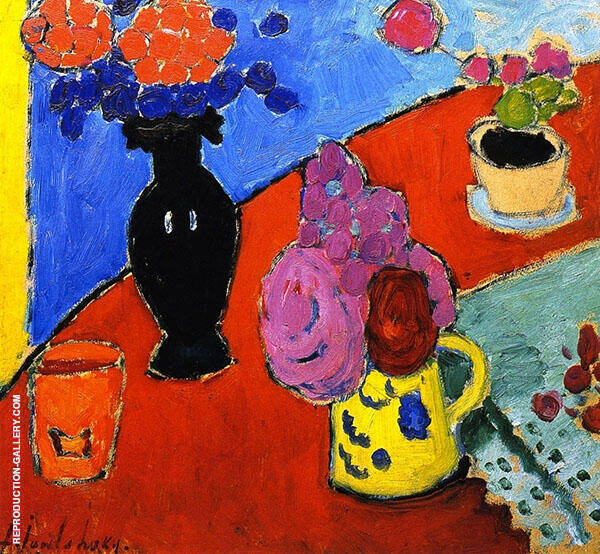 Still Life with Vase and Jug Painting By Alexej von Jawlensky