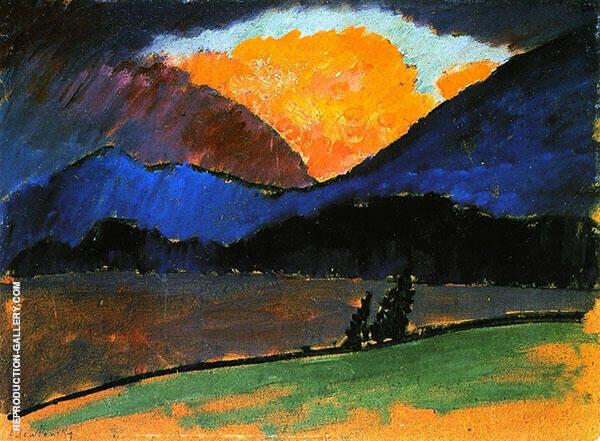 Summer Evening in Murnau Painting By Alexej von Jawlensky