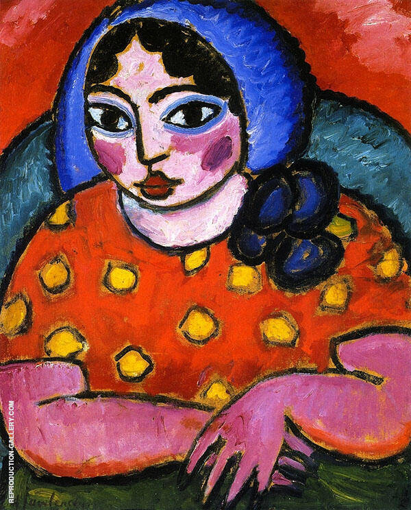 The Blue Cap Painting By Alexej von Jawlensky - Reproduction Gallery