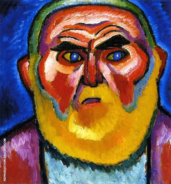 The Old Man Painting By Alexej von Jawlensky - Reproduction Gallery