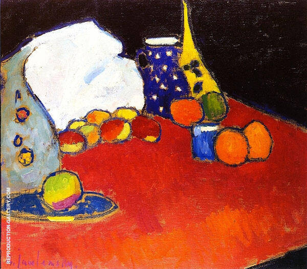 The Red Table Painting By Alexej von Jawlensky - Reproduction Gallery