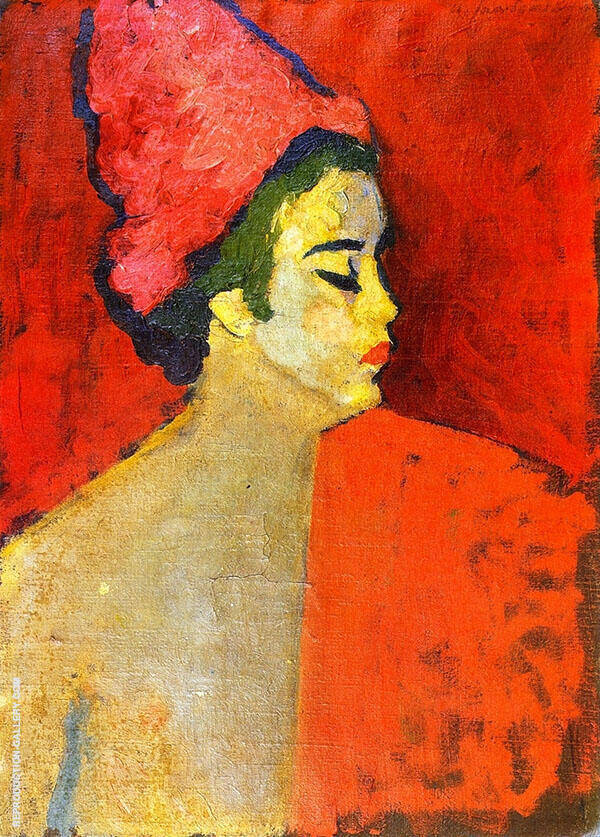 The Turban Painting By Alexej von Jawlensky - Reproduction Gallery