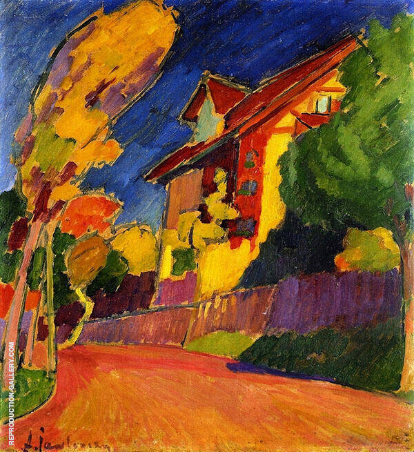 The Yellow House By Alexej von Jawlensky
