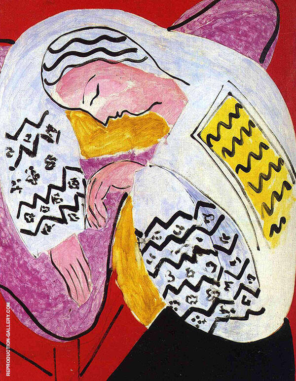 The Dream 1940 Painting By Henri Matisse - Reproduction Gallery