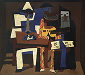 Three Musicians with Masks 1921 -2 By Pablo Picasso