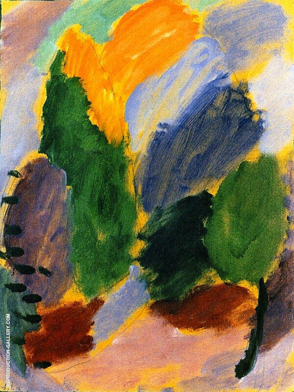 Variation Painting By Alexej von Jawlensky - Reproduction Gallery
