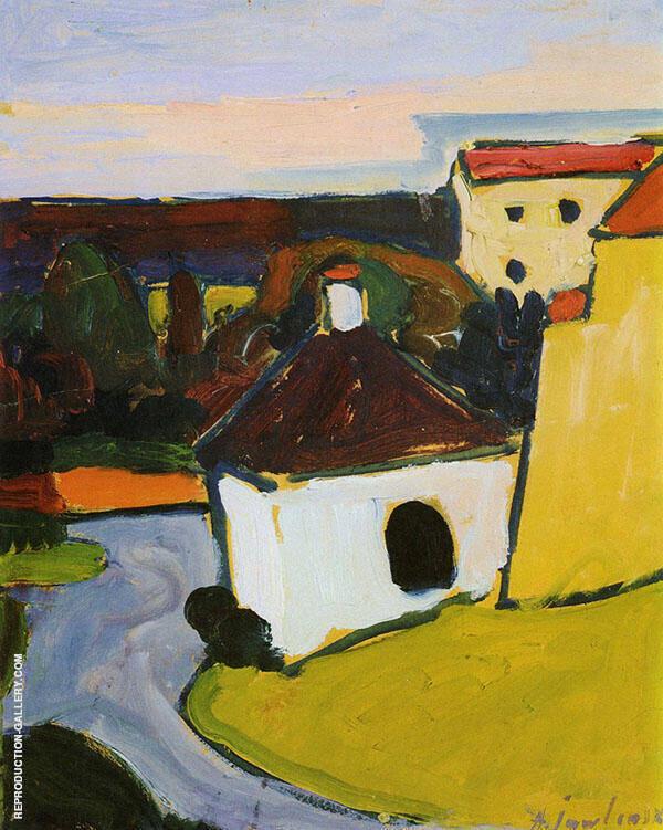 White Chapel Murnau Painting By Alexej von Jawlensky