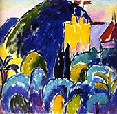 Yellow House Bordighera By Alexej von Jawlensky